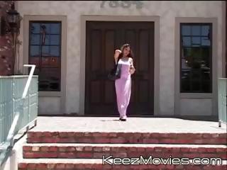 Two young schoolgirls meet the teacher after school to get fucked