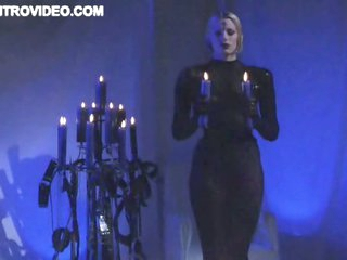Blonde Babe Gets Some BDSM Action In Front Of an Audience - Movie Scene