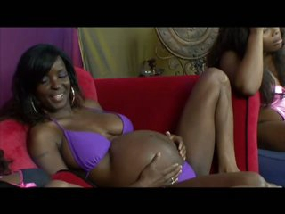 Six Cock-Bursting Ebony Preggos Having Fun In a Wild Lesbian Orgy