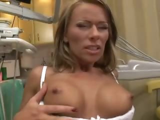 Mature fingers as he violates her ass