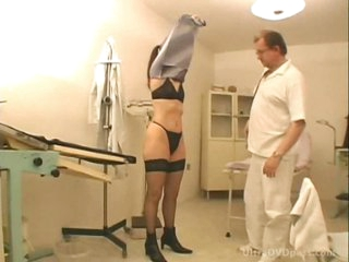 Perky Boobed Brunette Slut Gets Fucked and Facialized at the Doctor's Office
