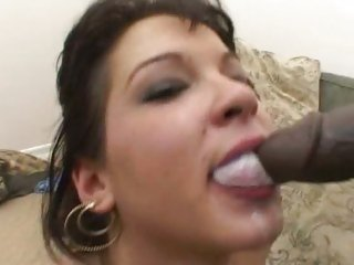 Nasty Shayna Knight gets a mouthful of dick milk