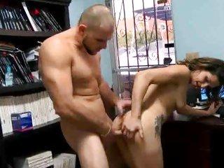 Sensual latina shoves a hard dick down her throat