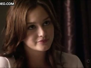 Breathtaking Brunette Leighton Meester Changes Clothes In Hot Lingerie