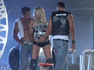 Blonde Milf IS Gangbanged By Horny Cocks