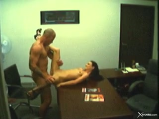 Rampant brunette gets her moist cunt crammed with cock