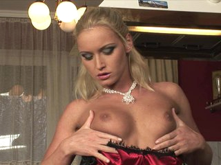 Exotic Kathia Nobili screams in ecstasy as she fingers herself