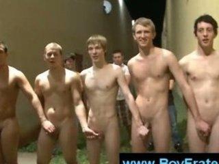 Desperate frat candidates confronting naked gays tasks