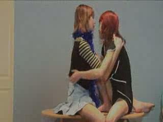 Shy polish girlfriends on the floor