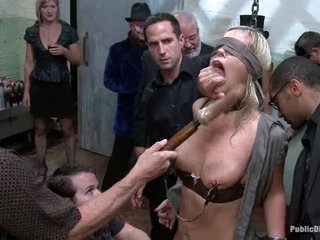 trussed and masked Tara Lynn gets her cunt vibed and titties squeezed.