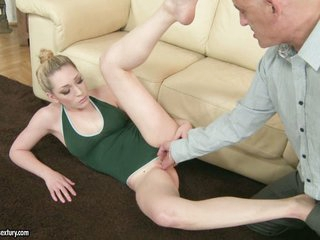 Lily Luvs blonde wife fingered hard by her husband