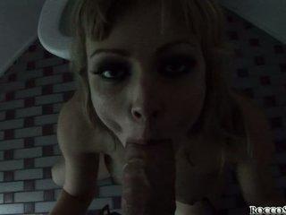 Adrianna Nicole and Rocco Siffredi blowjob in toilet