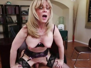 Alluring Nina Hartley is dicked up her dripping clunge
