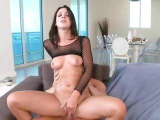 Randy Jada Stevens bounces her pussy on a stiff cock