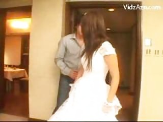 Cute Bride Getting Her Pussy Fingered Licked On The Bed