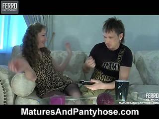 Leila&Rolf mature pantyhose action