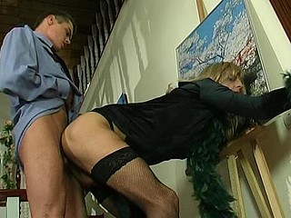 Hawt policeman knows how to handle with his unyielding rod meeting with sissy guy