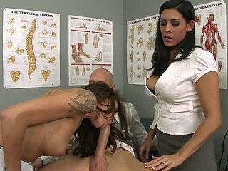 Chayse is having a tough time getting an orgasm, which explains why this babe needs assist, however from the test samples it turns out that her spouse is to blame. Dr Raylene fixes the problem and shows Chayse how to get the majority out of her spouse's knob as they the one and the other take turns to sit on it.
