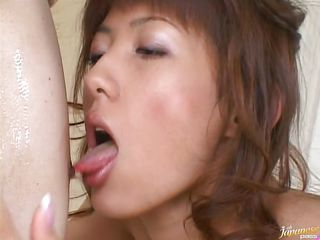 This bitch is crazy but in a good way. Her name is Hiromi and sometimes she likes to repay all that hard fucking she got with some taunting and domination. The guy is tied, mouth gagged and blindfolded, completely at her mercy. She licks him and then takes out his penis for a close inspection. Wonder why?