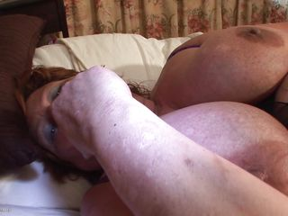 Brigit is one of those huge granny women that could swallow a dildo like a candy bar. She is masturbating and inserts that sex toy in her vagina all the way in making sure she has it inside. Her fat cunt receives it with no problems and now she can enjoy herself. She is huge but her sex drive is even bigger then her.