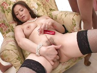 Watch Miyama Ranko, a whore that enjoys to open her mouth wide for cock and semen. One dick is not enough for her, she needs more and a lot of semen between those pink lips. Miyama masturbates and as she fingers her hairy pussy deeply the guys fuck her mouth and cum on her face. She loves the taste of jzz!