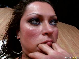 Because she was a very bad girl and sucked a lot of cocks, this guy fucks her big round booty nice and hard, grabbing her tits and neck as he drills her asshole. She loves to get slapped and fucked hard in the anus hoping that he will cum deep inside her butt. Watch this hot brunette with big tits and hot booty getting it hardcore, will she receive some spunk on her slutty face in the end?