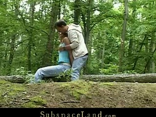 Skinny legal time eon teenager Claudie is Slavemaster's sex-toy this day.  A valuable walk outdoor in the woods must be combined with a worthy hard fuck upon his kinky mind. Bound by the trees that babe will fulfill his odd dream