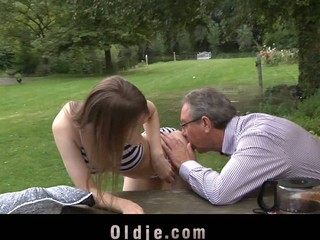 As a award for his assist Beata Undine suggests grandpa a wet reality. That Babe satisfy his old jock with a valuable cocksucking and a sexy old and juvenile fucking in different position right there on the table
