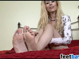Blonde Shows Off Her Feet And Soles