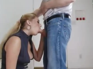 Hot blonde suck and swallow cum